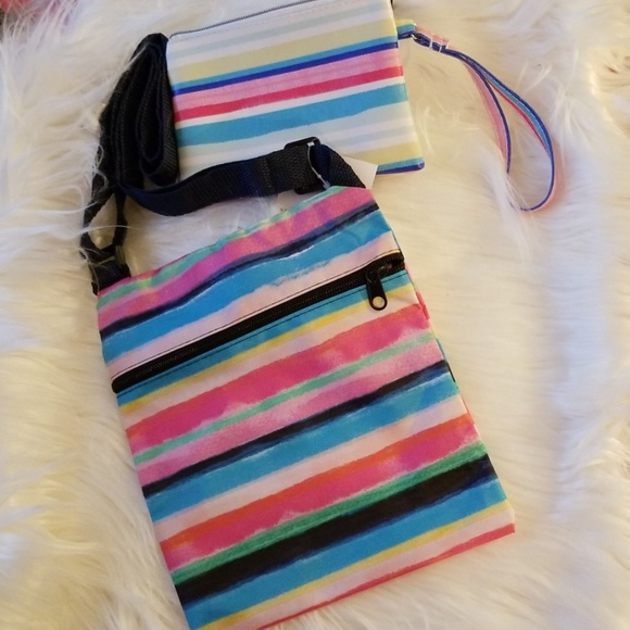 Handbags - Spring Rainbow Crossbody & Wristlet ( NWT)
